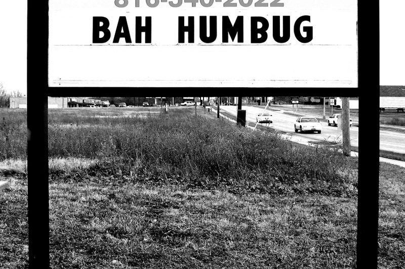 Bah Humbug Sign-1