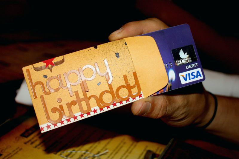 Happy Birthday Gift Card Envelope Three
