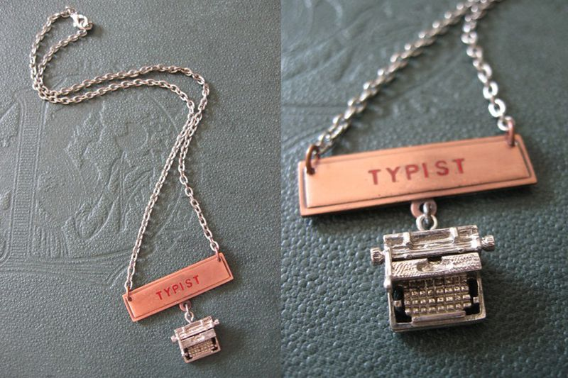Creative type necklace